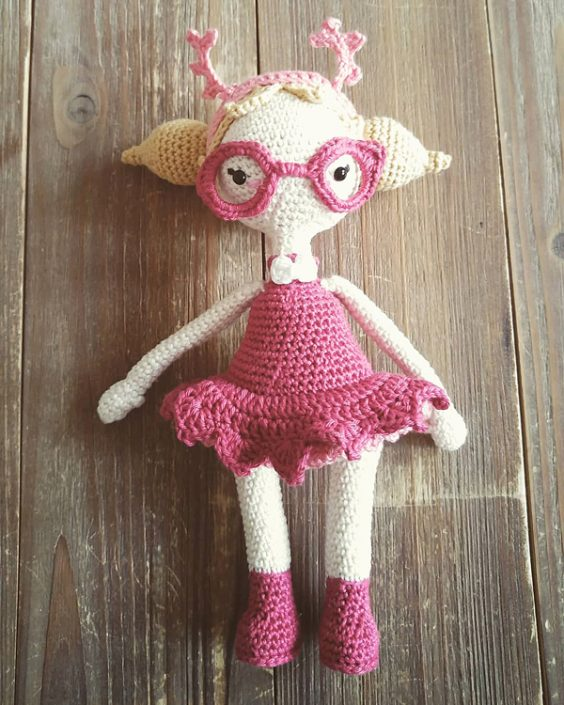 Mora the Mothgirl - crocheted by ma_kroehnchen - Pattern by Polaripop