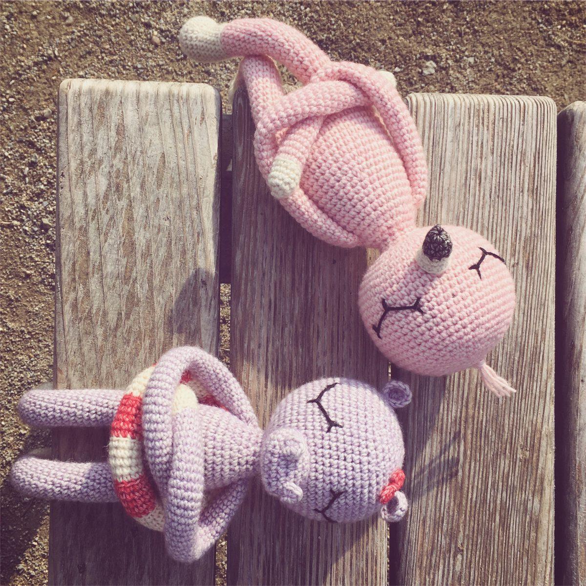 Heidi Hippo und Fritz Flamingo - Zuwachs bei der NONOs Häkelbande