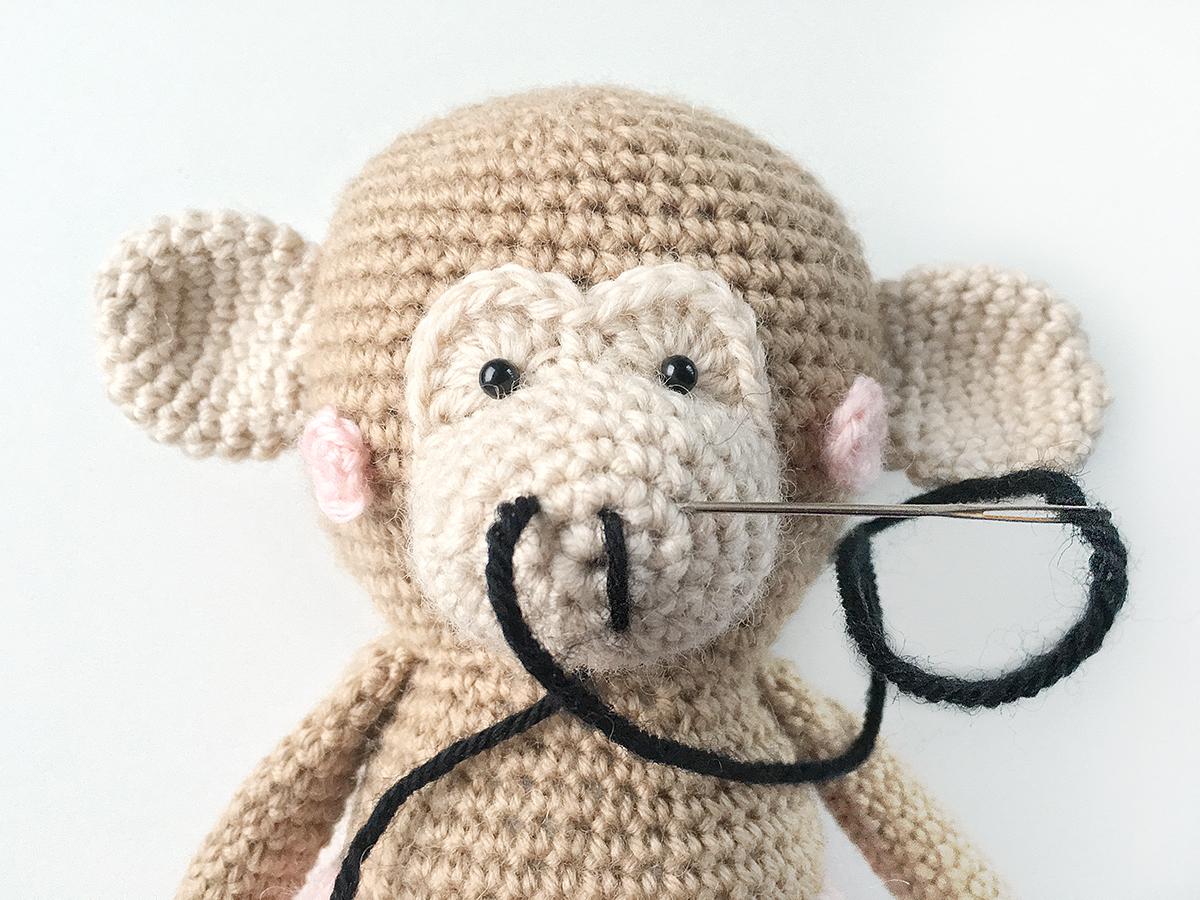 Cheeky Monkey Amigurumi Crochet Pattern by Sayjai Thawornsupacharoen | 900x1200