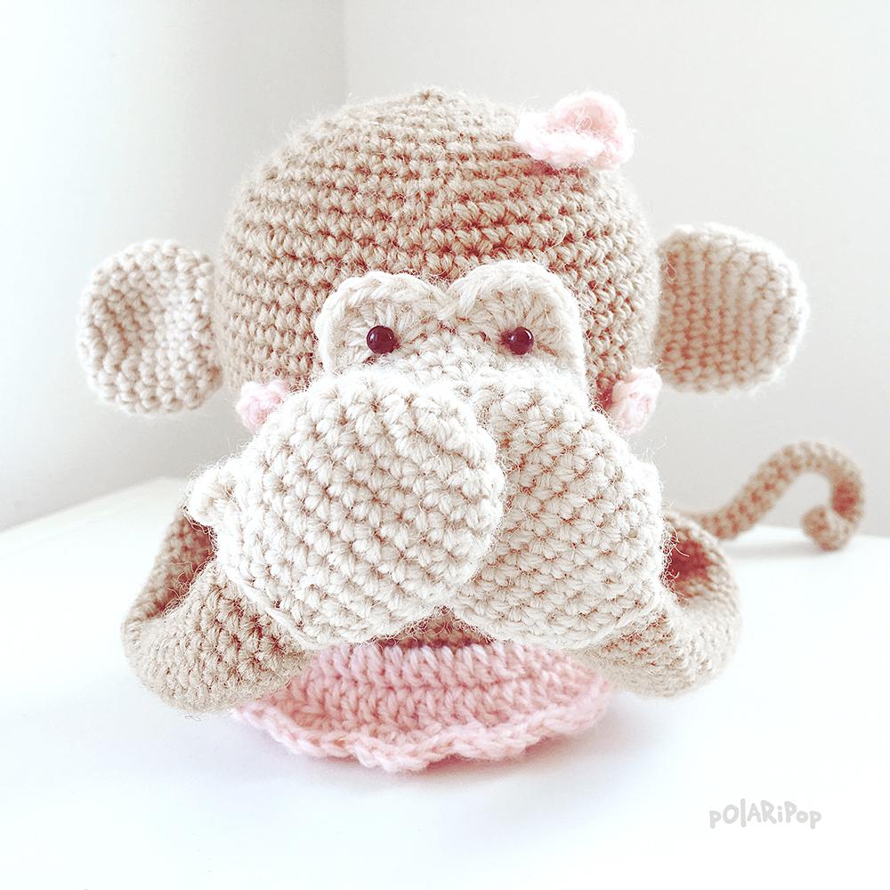POLARIPOP - Bella Blob - Monkey Madness - Free amigurumi pattern