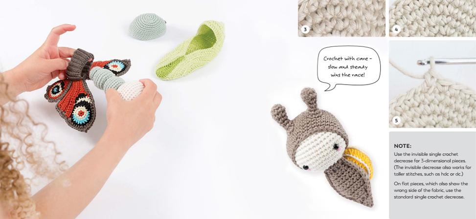 Amazon.com: Lalylala's Beetles Bugs and Butterflies: A Crochet ... | 448x973
