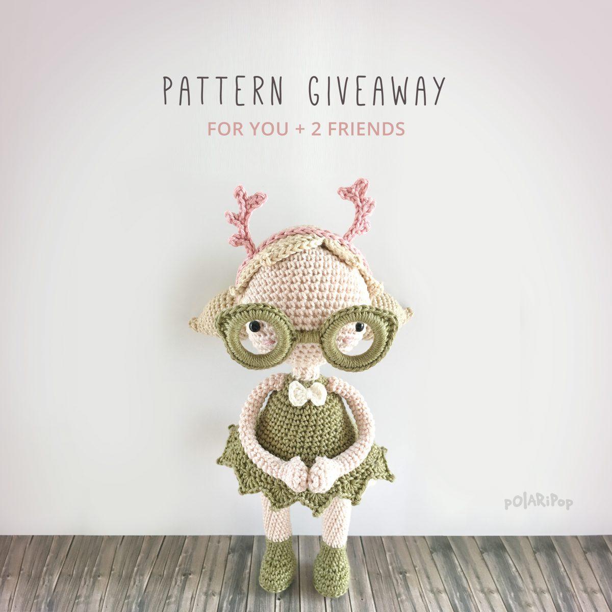 Amigurumi pattern giveaway - Mora the Mothgirl (DE+EN) - designed by POLARIPOP
