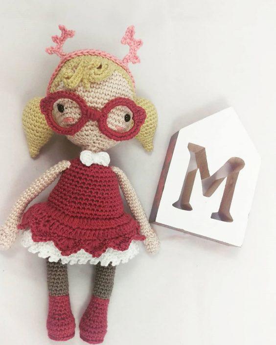 Mora the Mothgirl - Crocheted by KristelK - Pattern by Polaripop